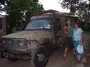 Our Land Rover after we went out from mud